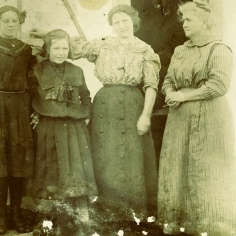 Jean Inglis, second from the right. Circa 1910