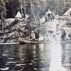 Canoeing on Lake Sesekinika circa 1910