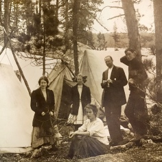 Well Dressed Campers Lake Sesekinika circa 1910