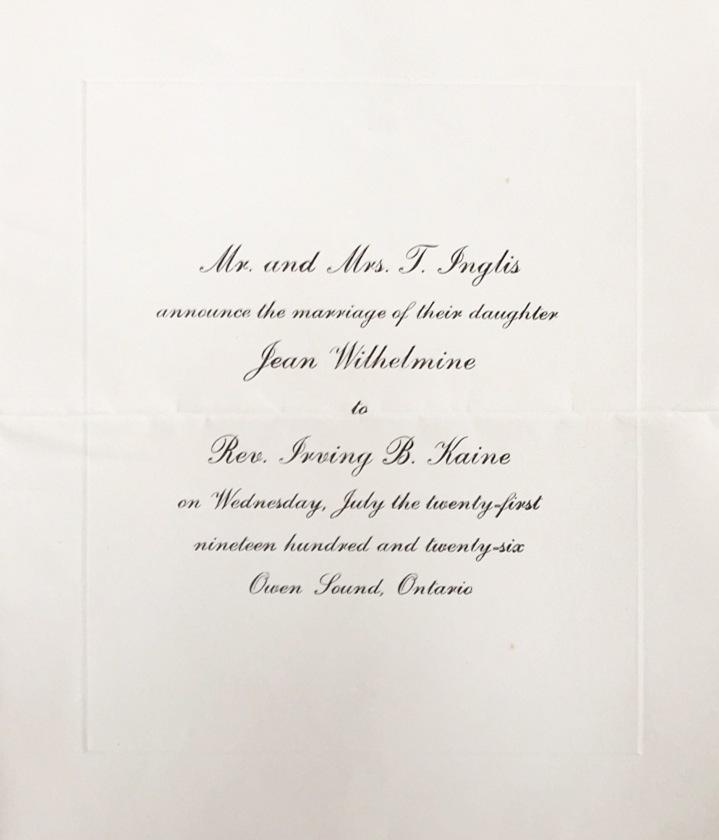 Jean Inglis wedding