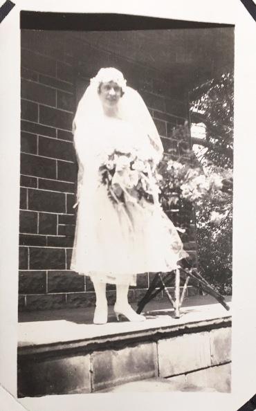 Jean Inglis Wedding Day July 21, 1926