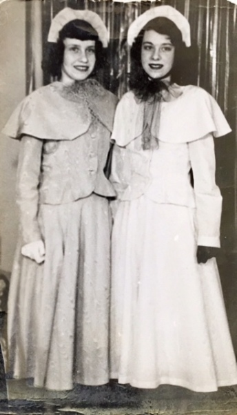 Doris and Helen made suits at sewing lessons