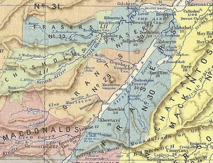 Fraser Lands Scotland 1587